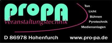 ProPa - unser Partner in Sachen Technik, Sound und Licht